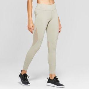 NWT JoyLab Khaki Mesh Legging XS